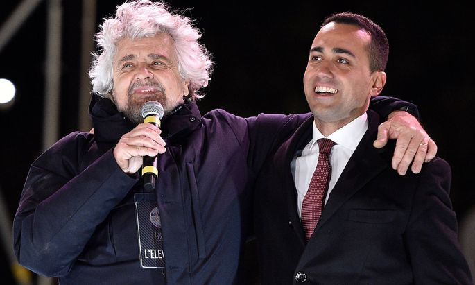 Beppe Grillo und Di Maio
