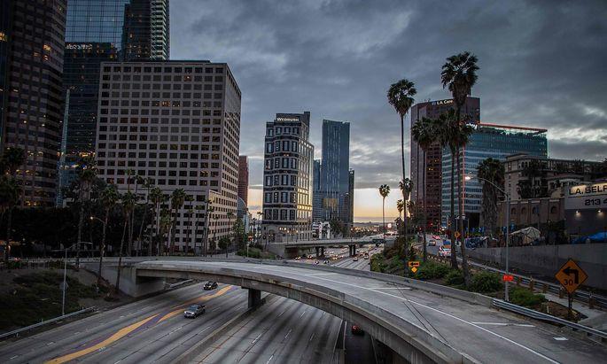Ungewöhnlich leere Straßen in Los Angeles