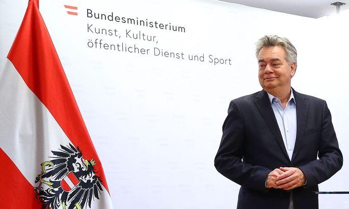 Vizekanzler Werner Kogler bei seiner Rede am Sonntag.