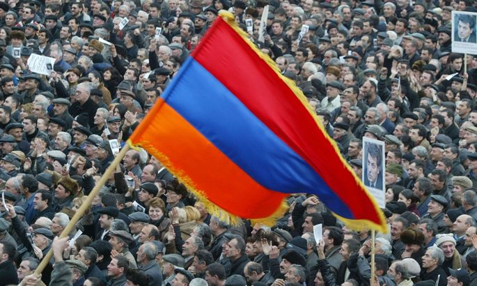 ARMENIA - PRE-ELECTION RALLY