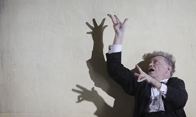 Actor Voss performs on stage during a dress rehearsal of Bernhard´s play ´Einfach kompliziert´ in Vienna