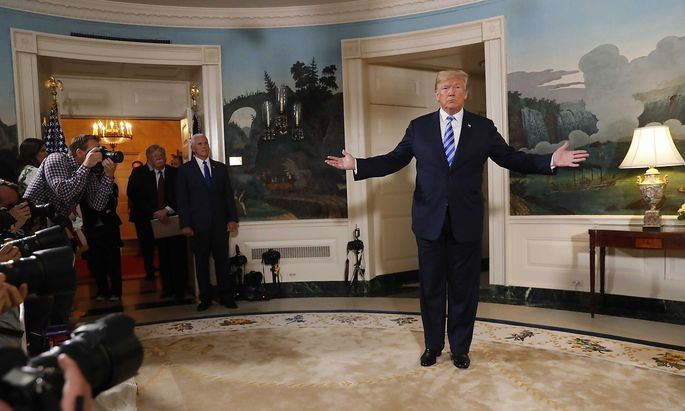 Donald Trump erklärte in Washington wie er künftig mir dem Iran umzugehen gedenken vermag.