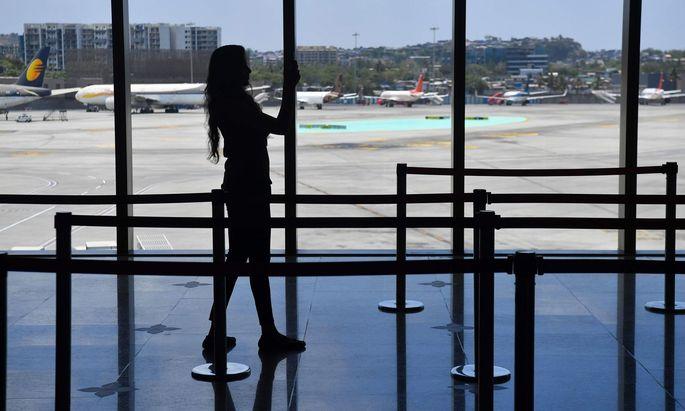 Die Frau reiste von Indien nach Salzburg, Symbolbild - Flughafen Mumbai