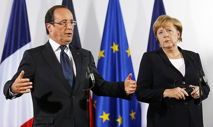 Francois Hollande, Angela Merkel