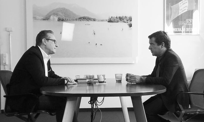 Heinz-Christian Strache im Interview mit Rainer Nowak