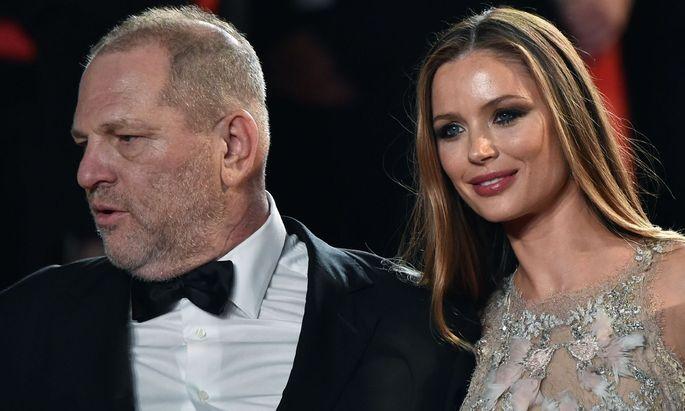 Harvey Weinstein und seine Ehefrau.