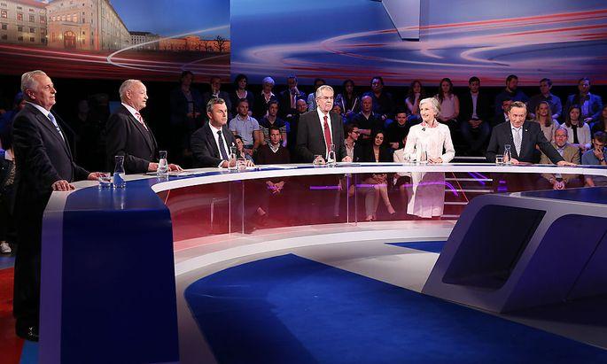 Die sechs Kandidaten im ORF