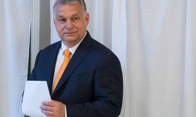 Europagegner, wie Viktor Orbán (hier am 26. Mai bei der Stimmabgabe), wurden bei den EU-Wahlen zurückgeschlagen.