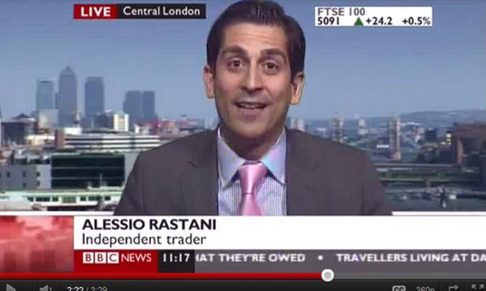 Trader freut sich BBCInterview