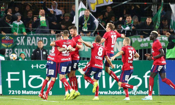 Rapid ließ sich in Mattersburg auch von einem Rückstand nicht beirren.
