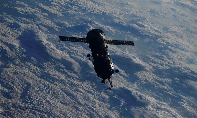 Der abgedockte Teil, von der ISS aus fotografiert