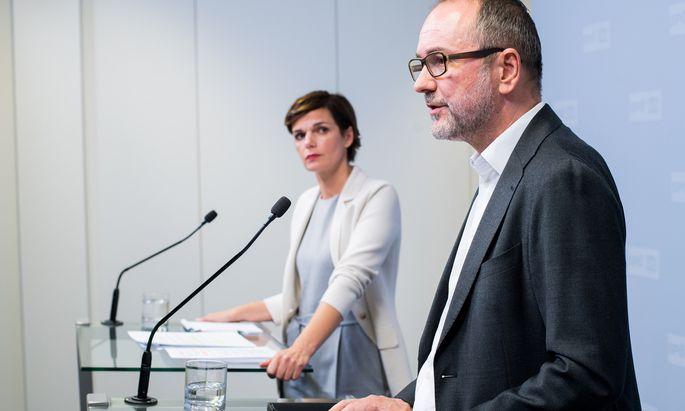 Stehen intern in der Kritik: SPÖ-Chefin Pamela Rendi-Wagner und Bundesgeschäftsführer Thomas Drozda.