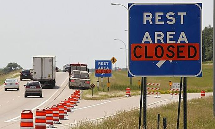 Rest areas along I-35 in southern Minneosta are closed due to the state government shutting down afte