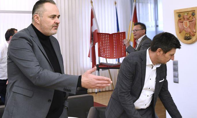 Hans Peter Doskozil (l.) holt sich die Sicherheitsagenden und den Tourismus ins Landeshauptmannbüro.