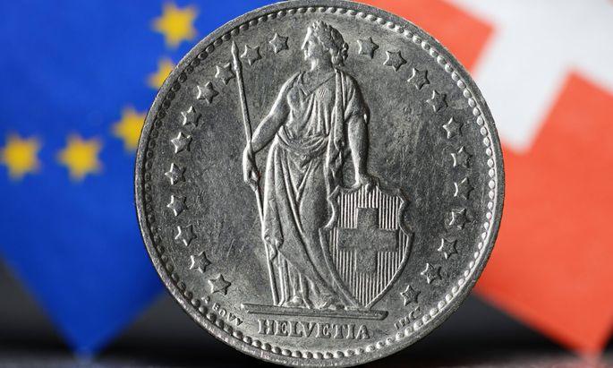 Schweizer Franken Beendigung des Franken Mindestkurses zum Euro
