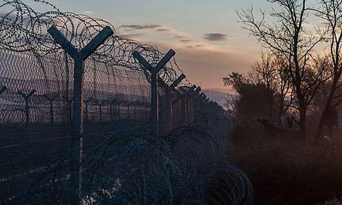 Der Grenzzaun zwischen Mazedonien und Griechenland