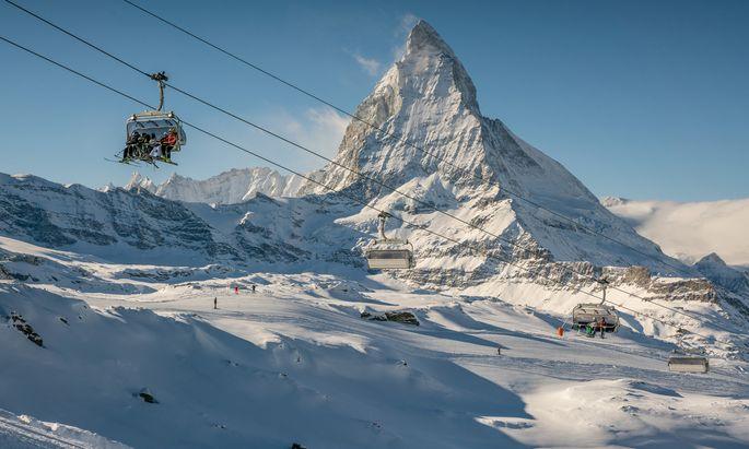 Insta-Gold: das Matterhorn und sein Skigebiet.