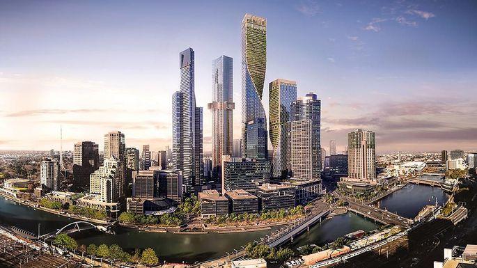 Die geplante vertikale Stadt zeigt sich überraschend grün.