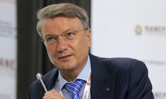 Sberbank-Chef Herman Gref kann durchatmen. Seine Bank fliegt wieder hoch.
