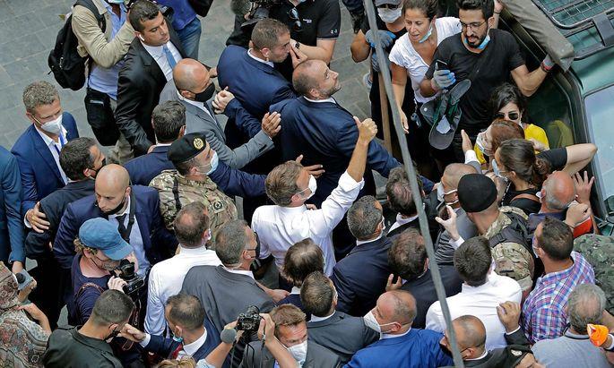 Emmanuel Macron besuchte Beirut.