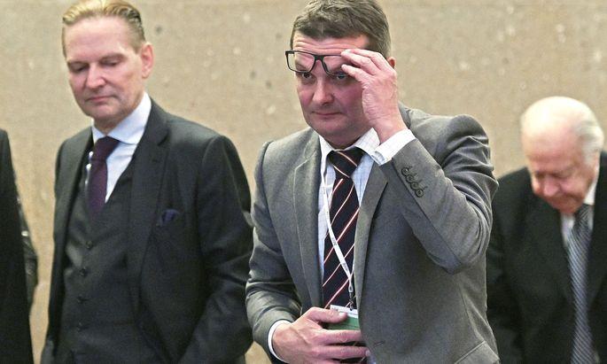 Die Angeklagten Norbert Wicki (links) und Gerald Toifl.