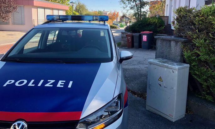 Ein Polizeiauto in der Nähe des Tatorts: Der Fall hatte 2019 für großes Aufsehen gesorgt.