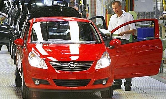 25.000 Arbeitsplätze sollen bei Opel gefährdet sein.