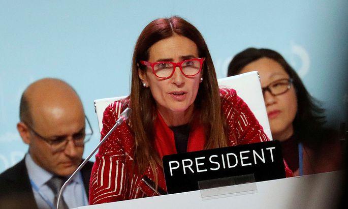 COP25-Präsidentin Carolina Schmidt