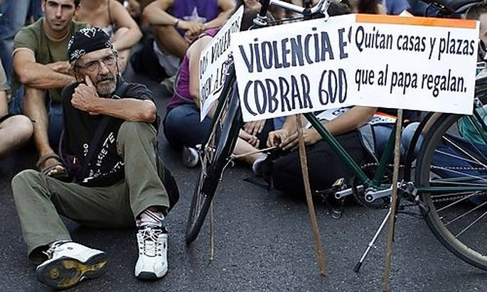 Papst protest madrid
