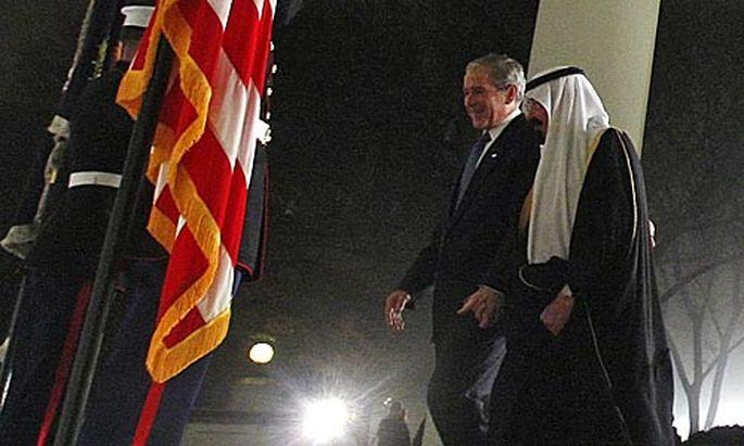 US-Präsident bush empfängt die Staats- und Regierungschefs der führenden Industrie- und Schwellenländern.