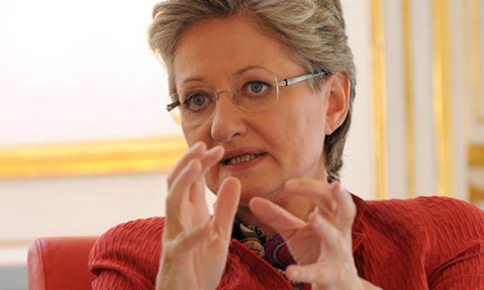 Archivbild: Claudia Schmied im Oktober 2010