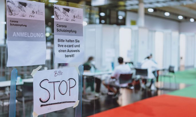 Impftag in der Steiermark. Ab 15. August wird man den Grünen Pass erst nach der zweiten Impfung erhalten.