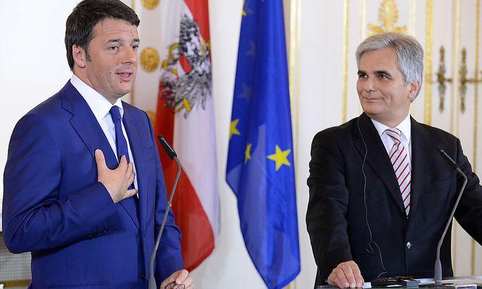Matteo Renzi und Werner Faymann im November 2014 im Kanzleramt in WienPK BUNDESKANZLER FAYMANN MIT ITALIENISCHEN PREMIER RENZI
