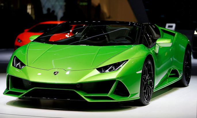 Der Lamborghini Huracan Evo Spyder - die Marke gehört zum VW-Audi-Konzern.