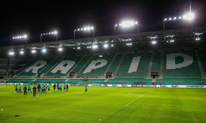 Leeres Rapid-Stadion