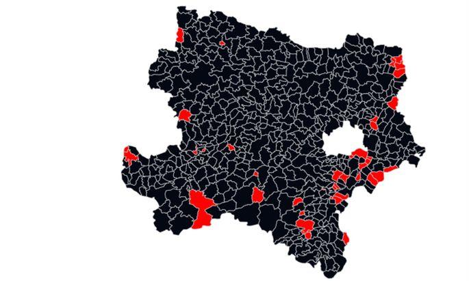 Blick auf Niederösterreichs Gemeinden nach dem vorläufigen Endergebnis
