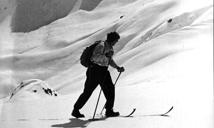 Die erste Spur: Hannes Schneider am Arlberg.
