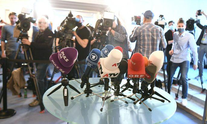 Journalisten vor Beginn des Ibiza-U-Ausschusses