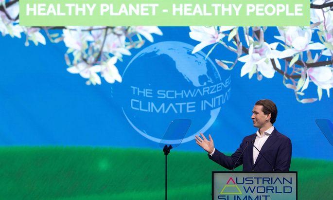 Sebastian Kurz beim Austrian World Summit 2021 am 1. Juli.