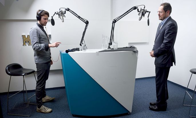 "David Freudenthaler (li.) und Rainer Trefelik im ""Presse""-Studio."