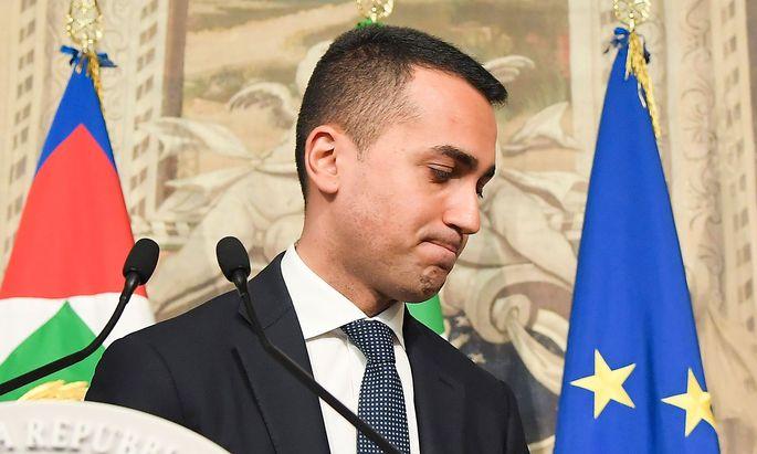 Fünf-Sterne-Spitzenkandidat Luigi Di Maio hofft auf eine Richtungsentscheidung bei Neuwahlen.