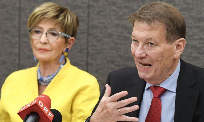 Die Präsidentin des ÖVP-Seniorenbundes, Ingrid Korosec, und Peter Kostelka, Präsident des SPÖ-Pensionistenverbandes