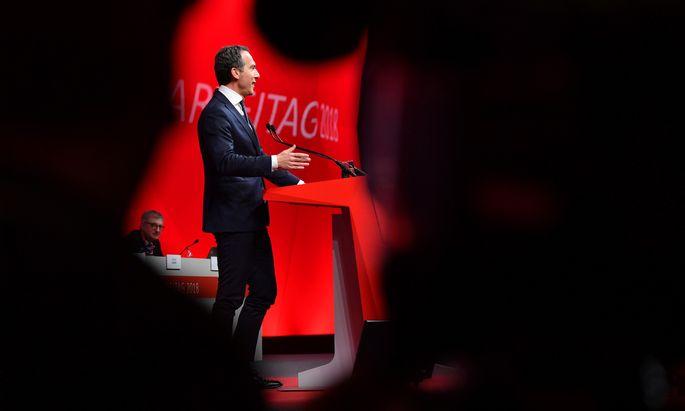 Christian Kern am Samstag beim SPÖ-Bundesparteitag