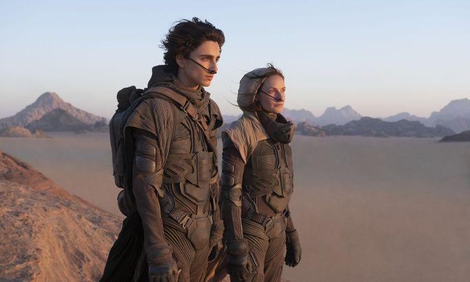 "Timothée Chalamet und Rebecca Ferguson in ""Dune"""