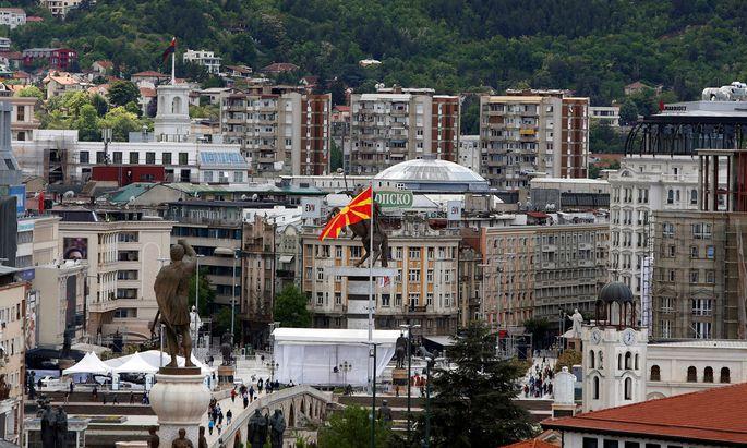 Frankreich lehnt die Aufnahme von Beitrittsverhandlungen mit Skopje (im Bild: Blick auf die Stadt) ab.
