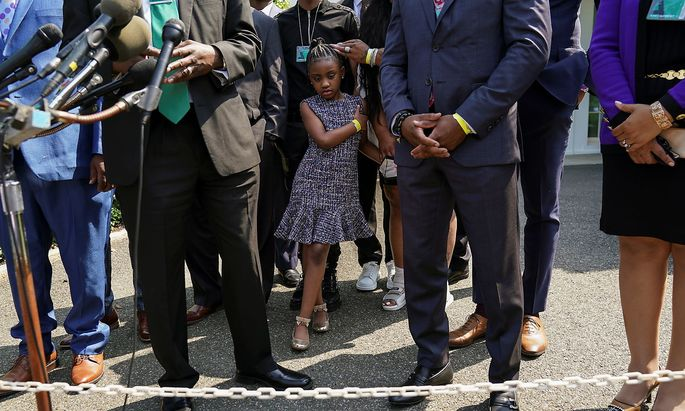 Biden meets with the Floyd family at the White House in Washington