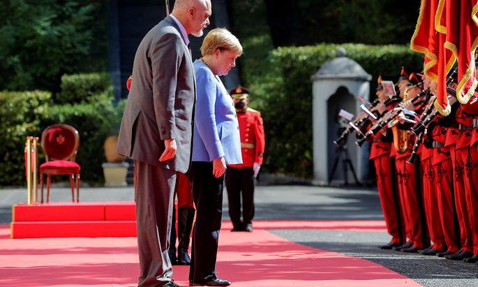 Angela Merkel mit dem albanischen Premierminister Edi Rama.