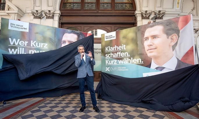 Präsentation der ÖVP-Wahlplakate