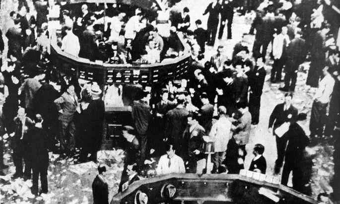 Wall Street in den 1920ern.
