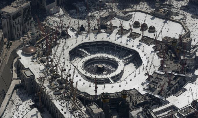 An aerial view of the Grand Mosque is seen in the holy city of Mecca